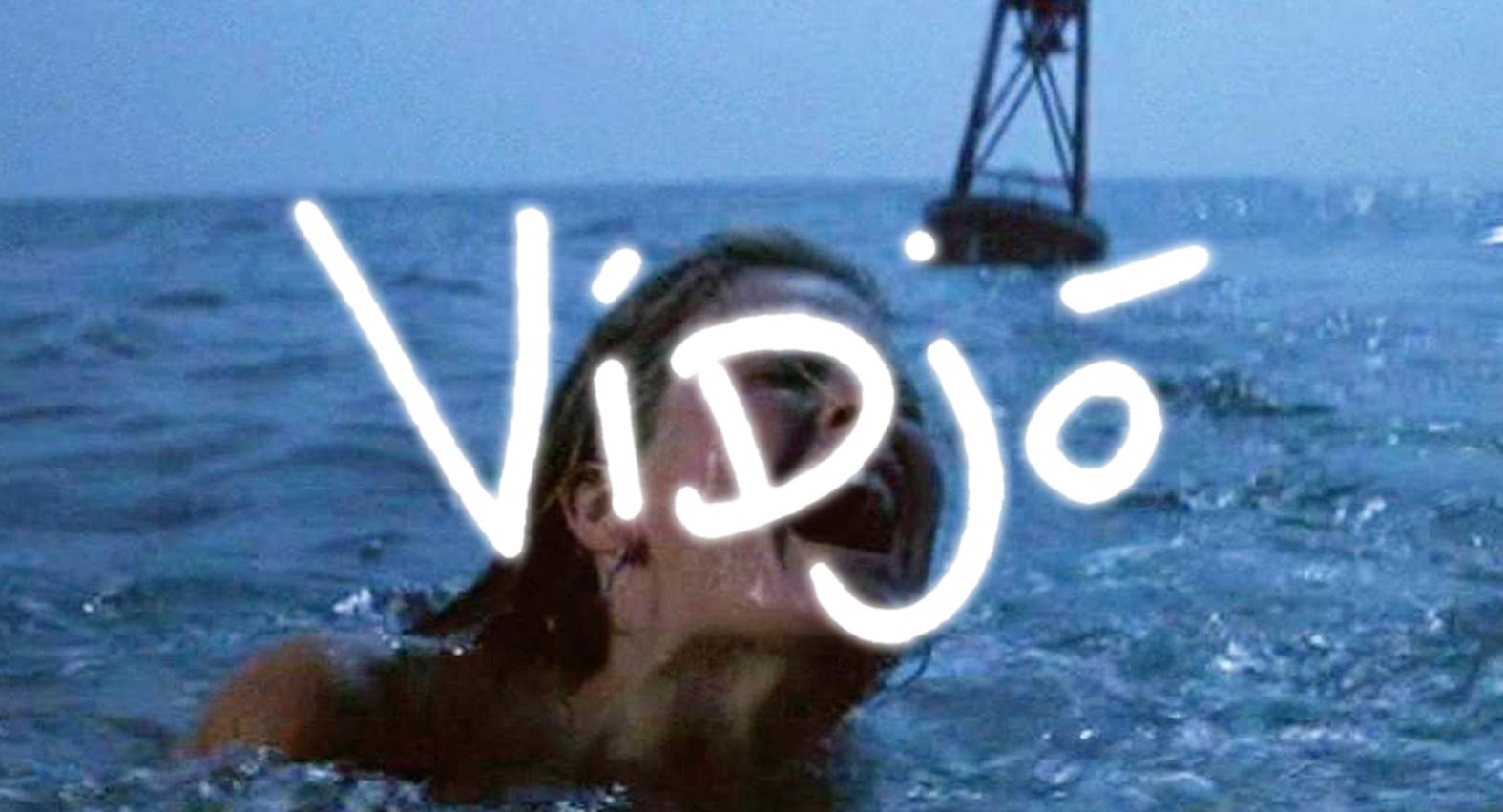 woman in sea screaming
