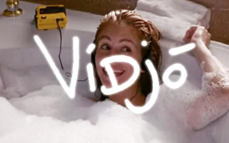 woman in bubble bath